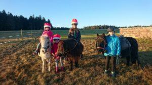 Poniy-Stunde mit den Kindern am Nikolaustag
